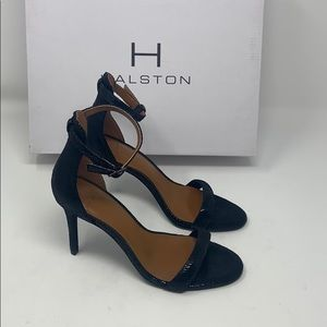 New/dis H Halston alison black lizard